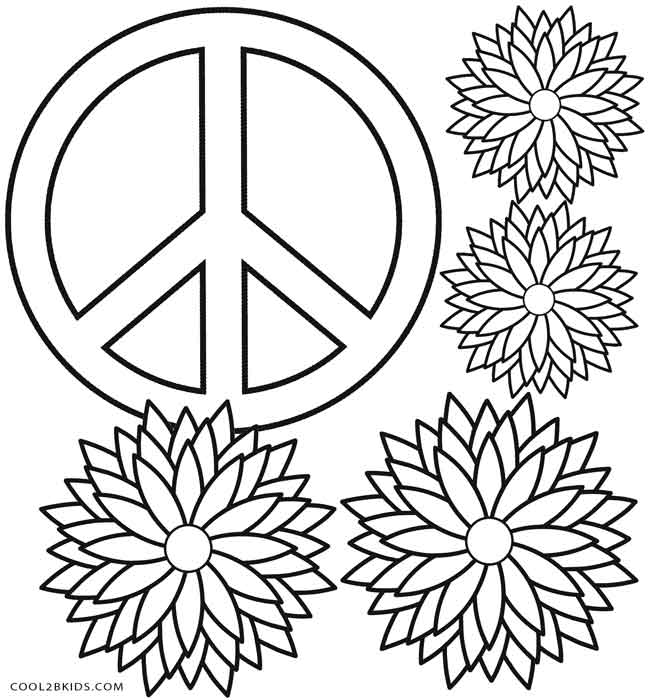 Top 25 Free Printable Peace Sign Coloring Pages Online | 700x661