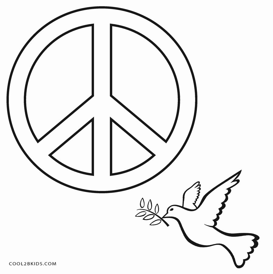 Free Printable Peace Sign Coloring Pages