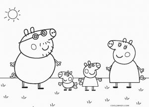 Free printable pig coloring pages for kids cool2bkids for Peppa pig drawing templates