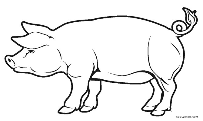 pig coloring pages printable - Pig Coloring Pages