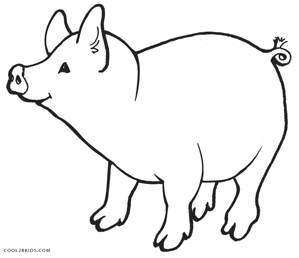 pig coloring pages - Pig Coloring Pages
