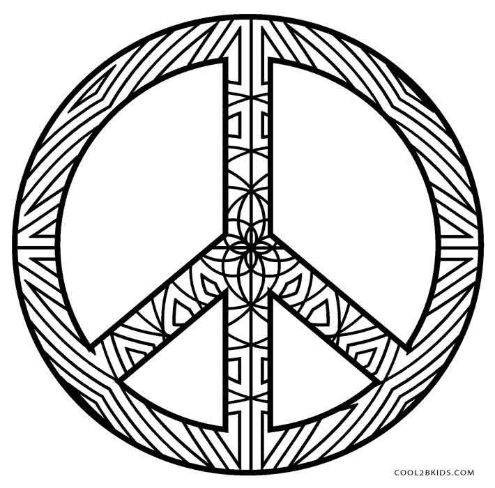 Free Printable Peace Sign Coloring Pages | Cool2bKids