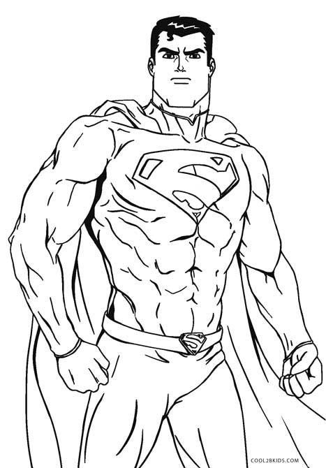 This is an image of Challenger Superman Coloring Pages Printable