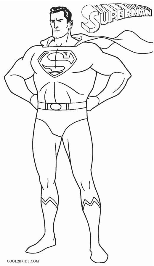 superman coloring page - Superman Coloring Pages