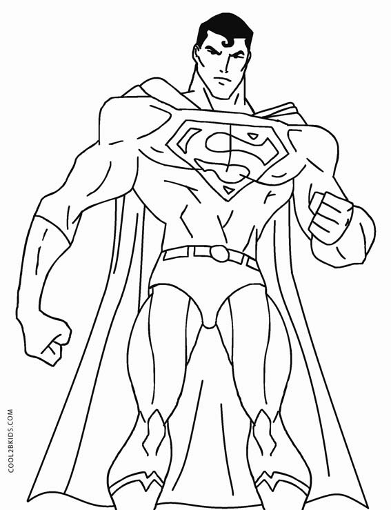Inventive image regarding superman printable coloring pages