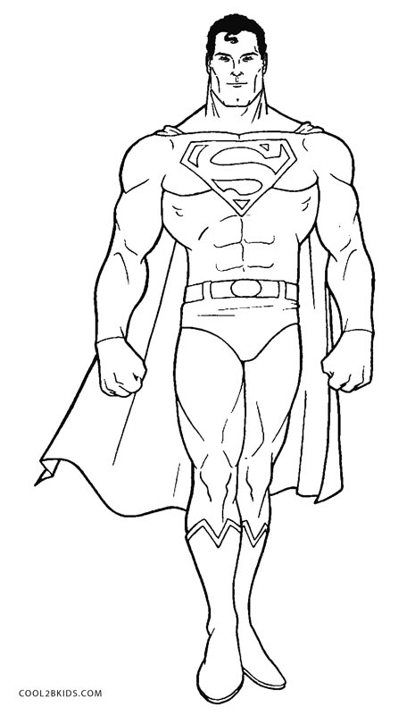 coloring pages superman - photo#2