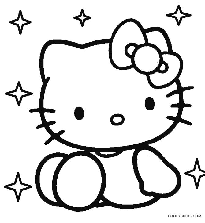 baby hello kitty coloring pages