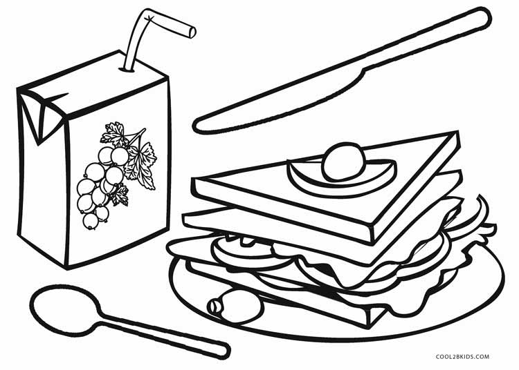 food coloring pages. Breakfast Food Coloring Pages Free Printable For Kids  Cool2bKids
