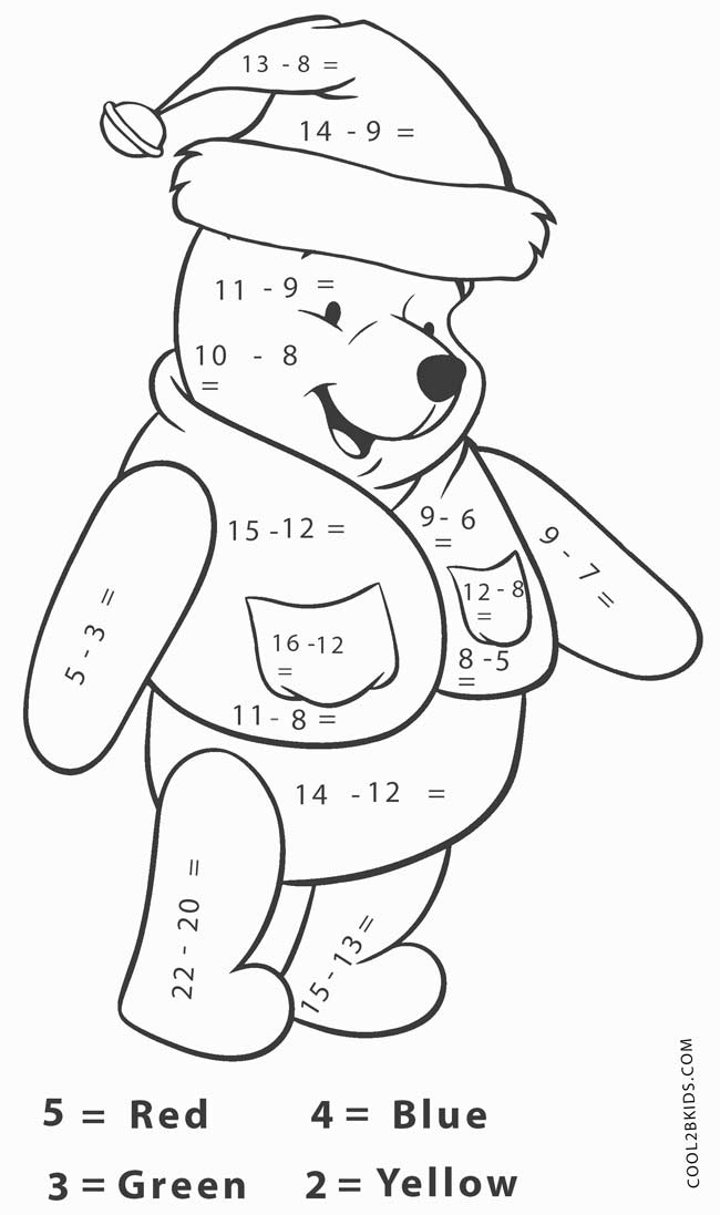 holiday math coloring pages - photo#27