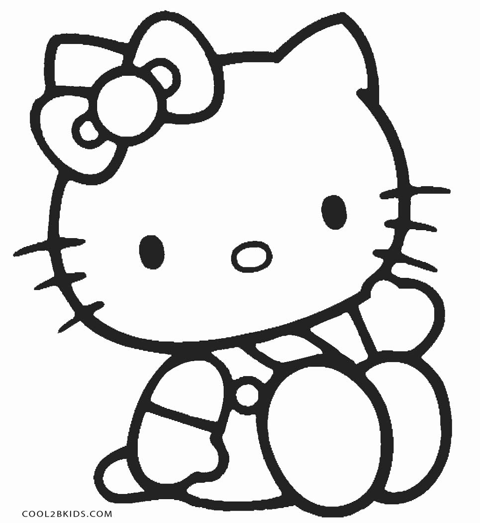 Hello kitty dancing coloring pages for kids printable free ... | 1050x965