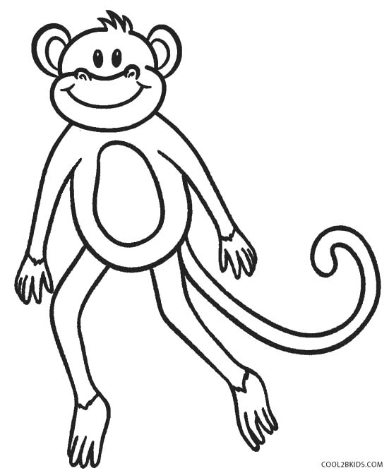 coloring pages of monkeys - Coloring Pages Of Monkeys