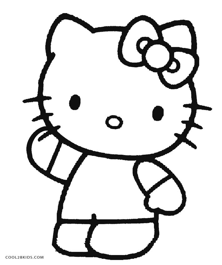 This is a graphic of Nifty Free Printable Hello Kitty Coloring Pages