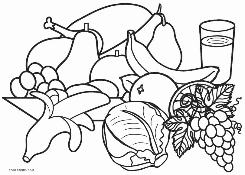 Healthy Food Coloring Pages