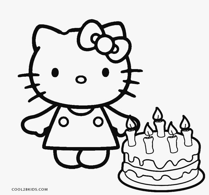 Free Printable Hello Kitty Coloring Pages For Pages | Cool2bKids