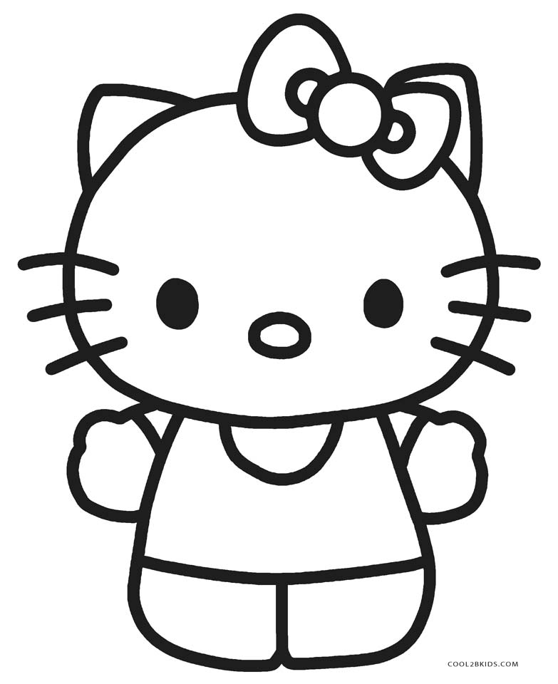 Mesmerizing image within printable hello kitty