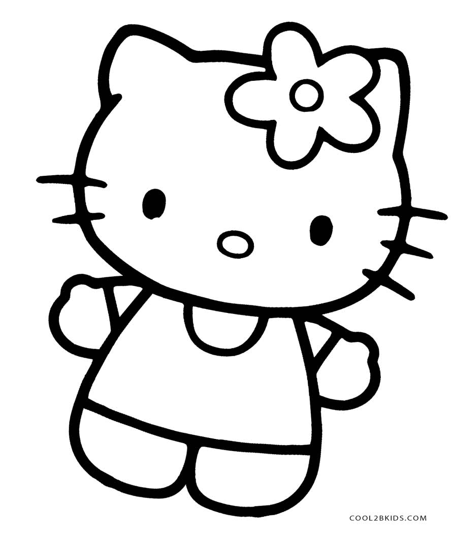 It's just an image of Magic Free Printable Hello Kitty Coloring Pages