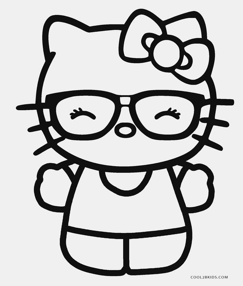Hello Kitty Nerd Coloring Pages Printable : Hello kitty nerd coloring pages printable fun