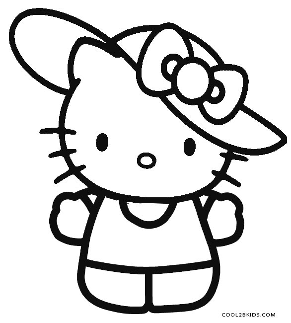 Eloquent image intended for printable hello kitty coloring pages