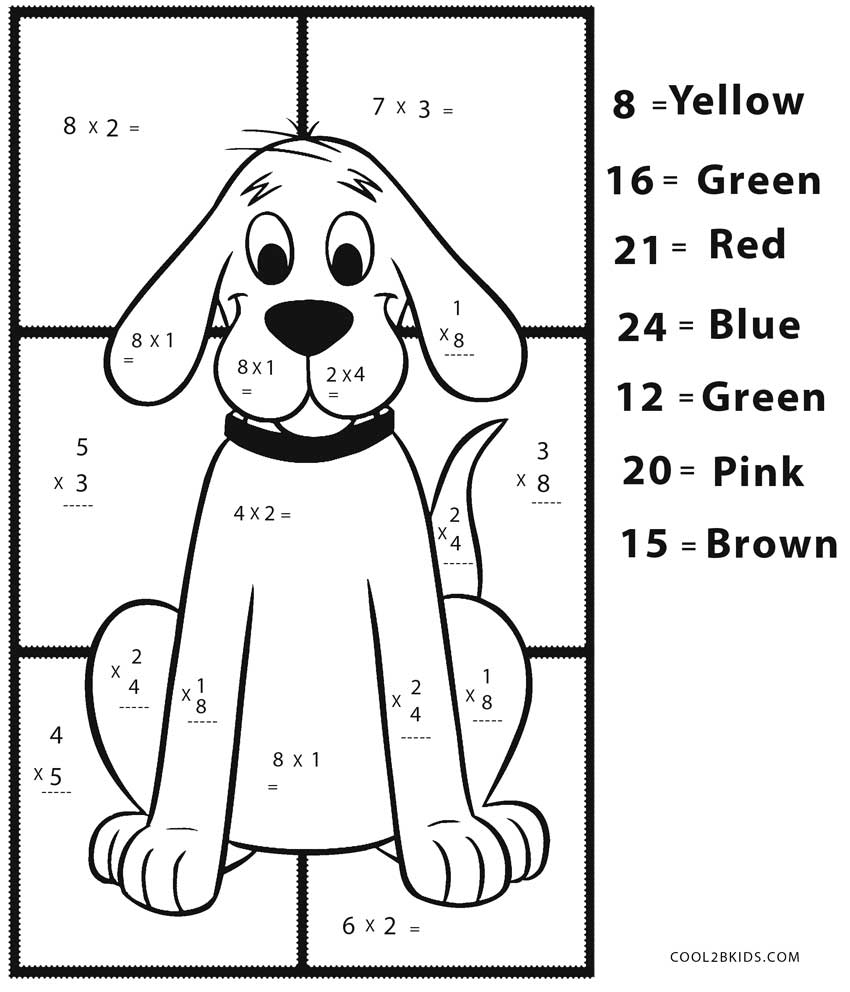 Free printable math coloring pages for kids cool2bkids for Math coloring pages printable