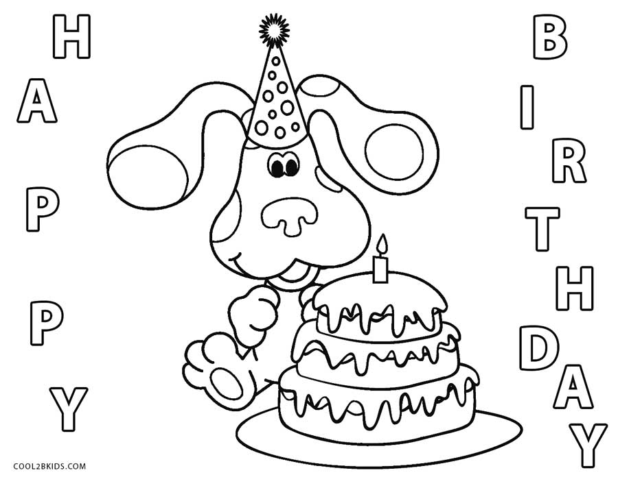 blues clues birthday coloring pages - Birthday Coloring Sheets