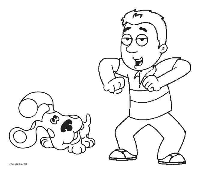 blues clues coloring pages steve - Blues Clues Coloring Pages