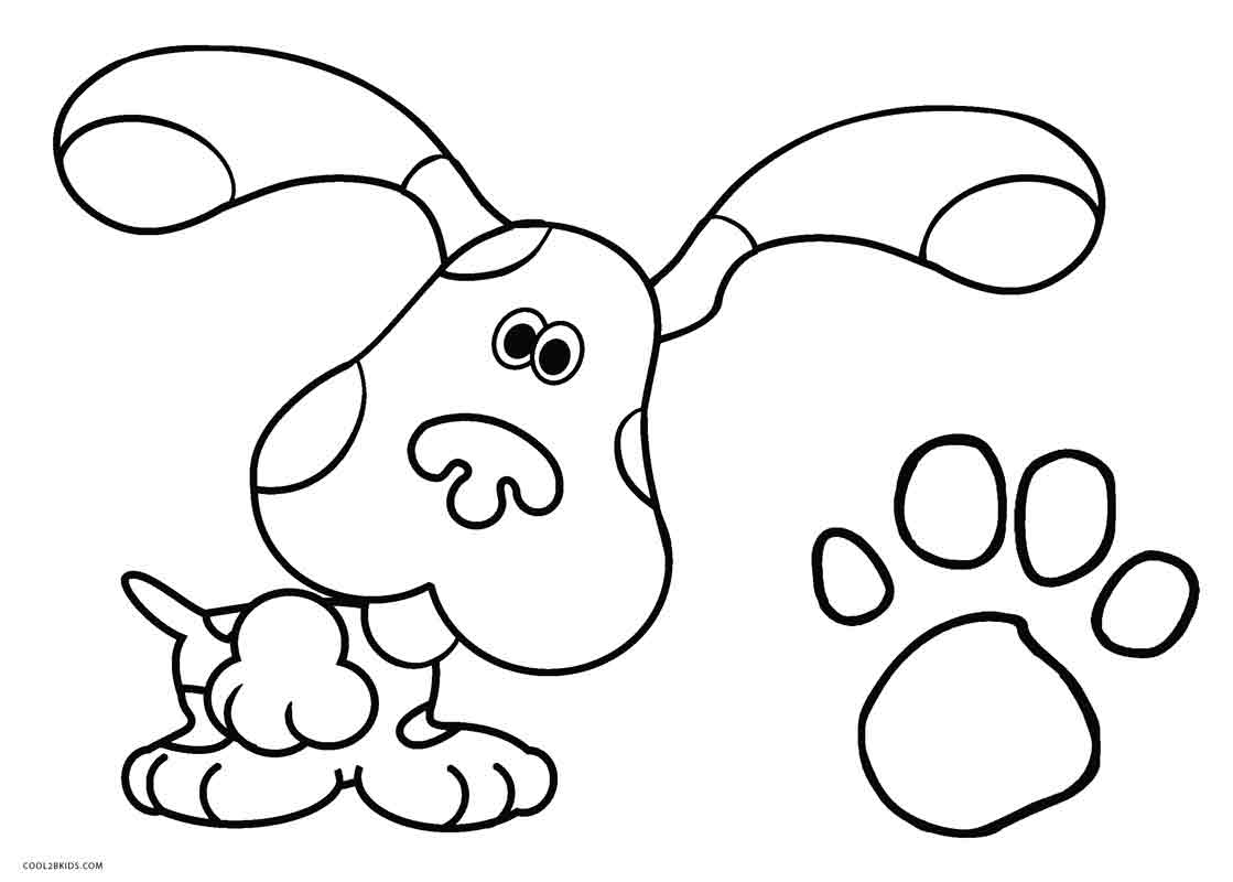 Blues Clues Coloring Pages Free Printable Blues Clues Coloring Pages For Kids  Cool2Bkids
