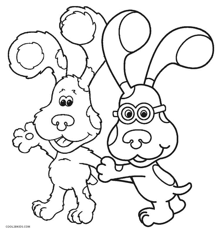 Blues Clues Coloring Page Blues Clues Magenta Coloring Pages Blues ...