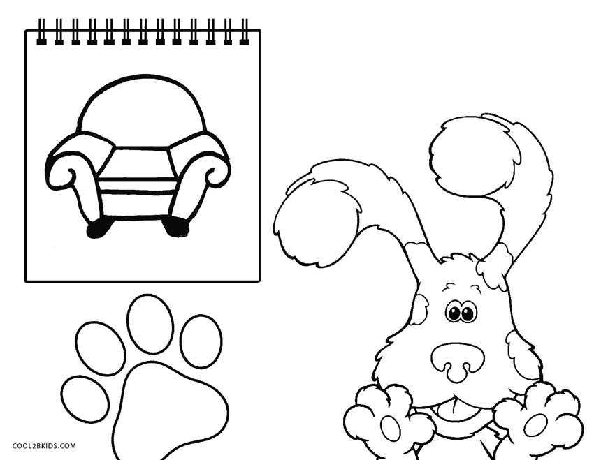 Blues Clues Notebook Coloring Pages