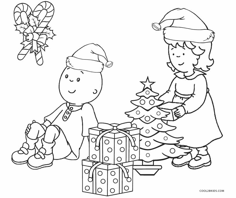 caillou christmas coloring pages - Caillou Gilbert Coloring Pages