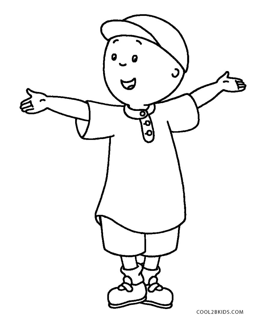 caillou coloring page - Caillou Gilbert Coloring Pages