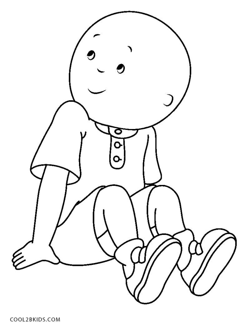 caillou cartoon coloring pages  colorpaintsco