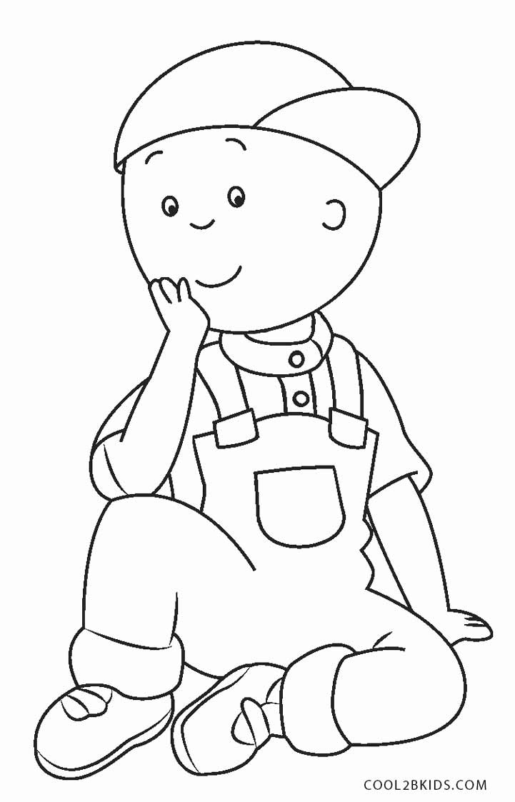 free printable kid coloring pages | Free Printable Caillou Coloring Pages For Kids | Cool2bKids
