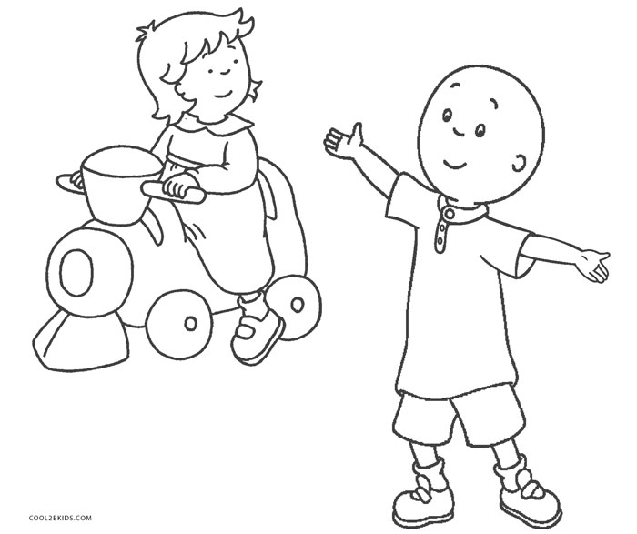 free printable caillou coloring pages for kids cool2bkids. Black Bedroom Furniture Sets. Home Design Ideas