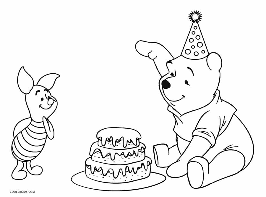 happy birthday pooh bear coloring pages | Free Printable Winnie the Pooh Coloring Pages For Kids ...