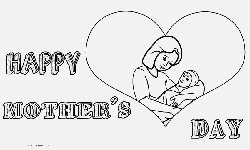 Free printable mothers day coloring pages for kids for Mothers day coloring pages religious