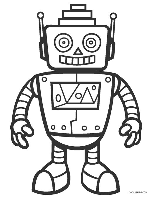 coloring pages of robots