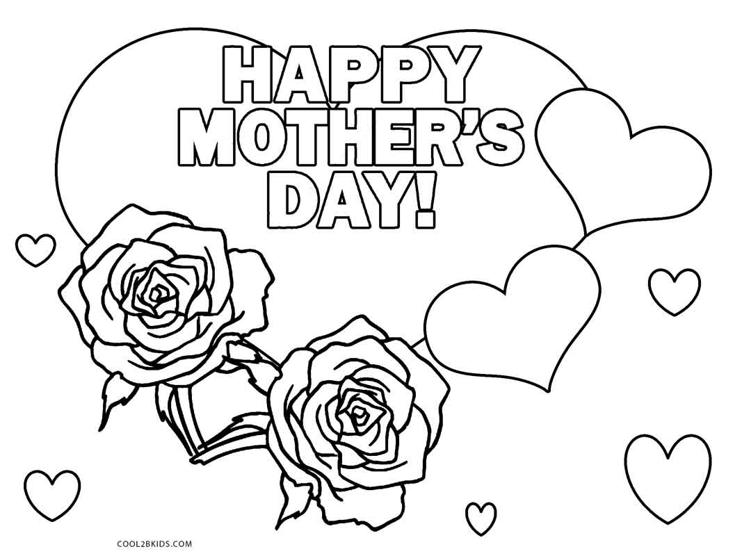 mothers day coloring pages - Coloring Pages Mothers Day