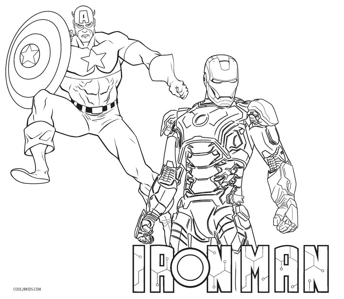 Printable Coloring Pages Iron Man