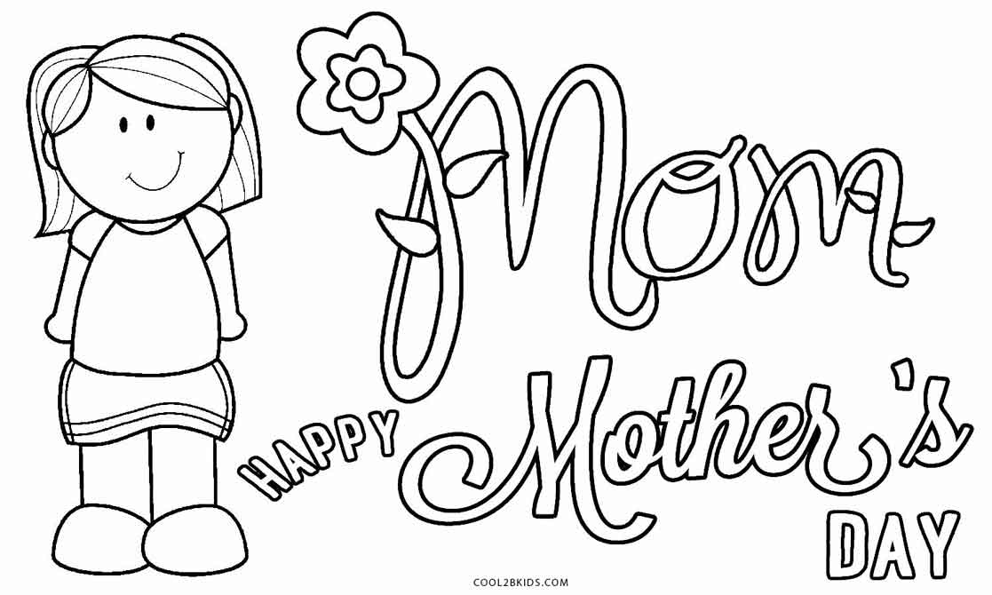 Free printable mothers day coloring pages