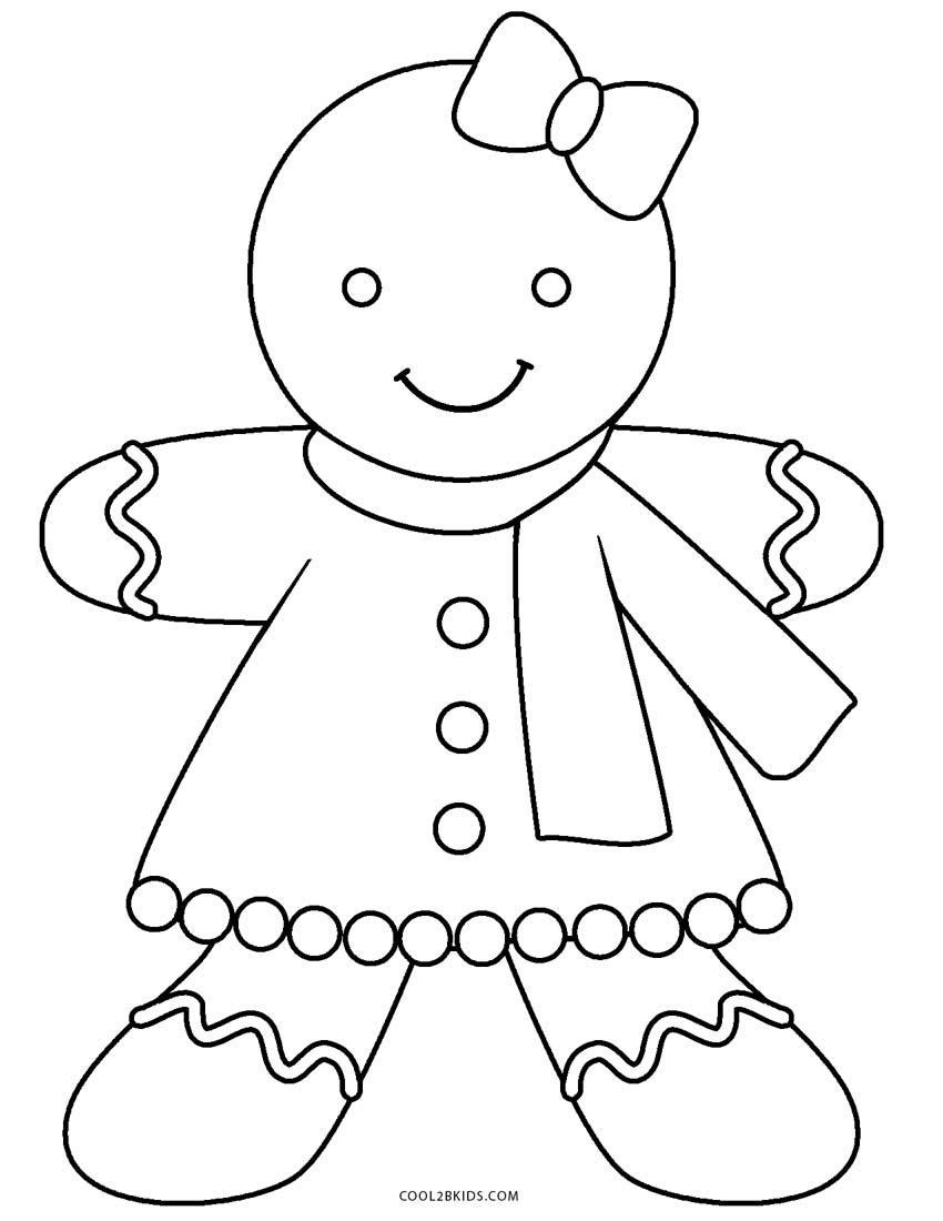 Free Printable Gingerbread Man Coloring Pages For Kids | Cool2bKids