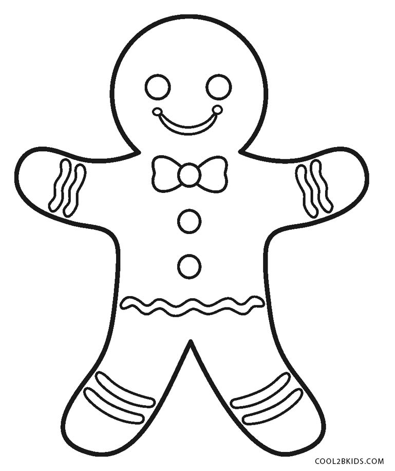 Free printable gingerbread man coloring pages for kids for Coloring pages man