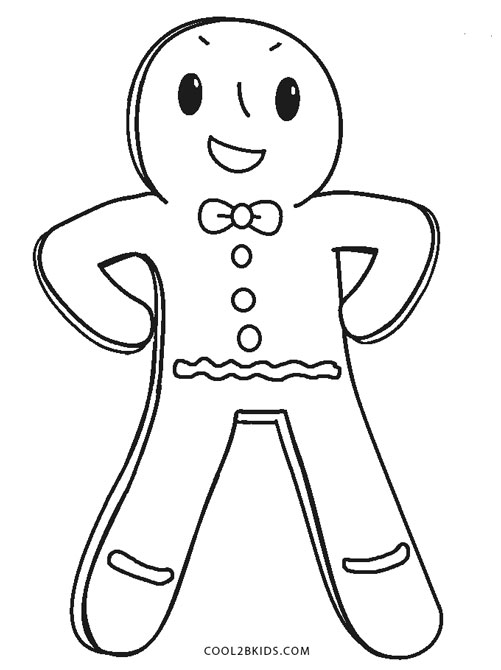 picture about Printable Gingerbread Man titled Cost-free Printable Gingerbread Person Coloring Webpages For Children