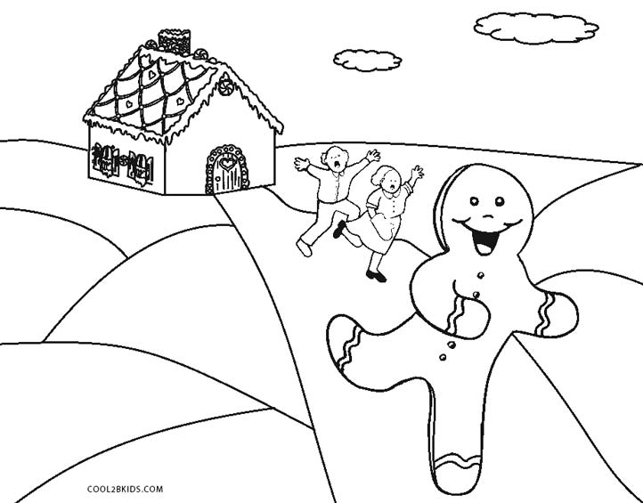 Simple Gingerbread Man coloring page | Free Printable Coloring Pages | 565x722