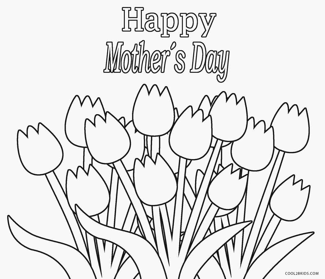 happy mothers day coloring page - Mothers Day Coloring Pages