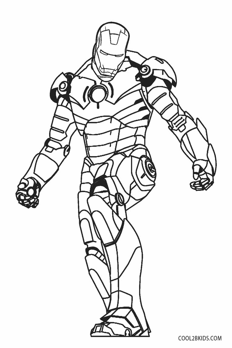 Free Printable Iron Man Coloring