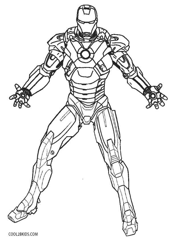Ironman Coloring Pages For Kids AZ