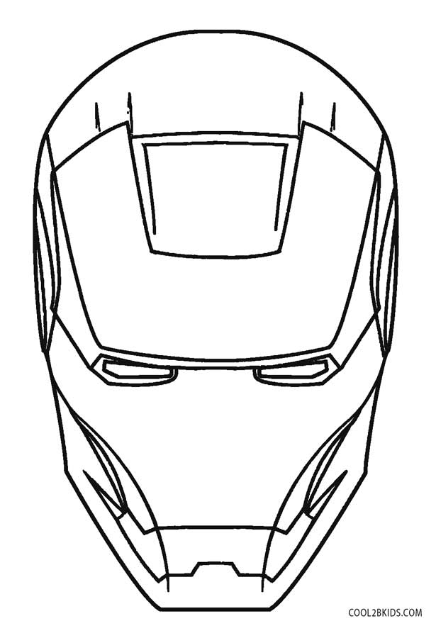 Free Printable Iron Man Helmet Coloring Pages - Coloring ...