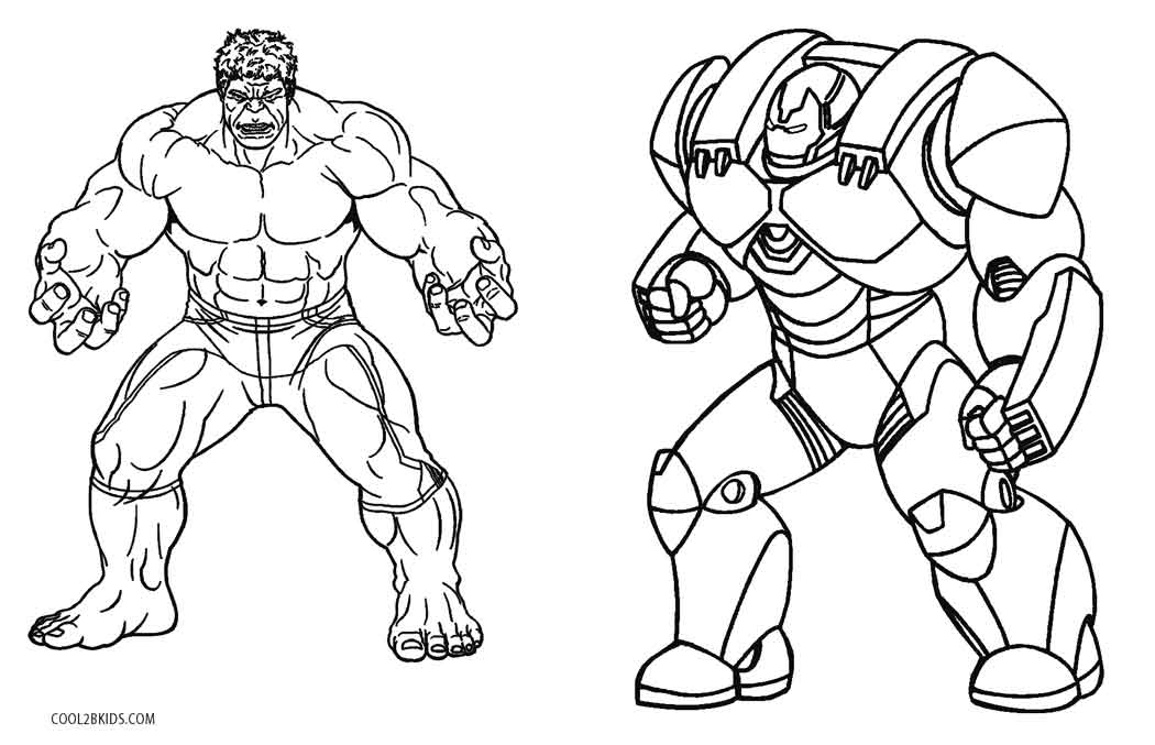 Iron Man Hulkbuster Armor Coloring Pages Coloring Pages Ideas