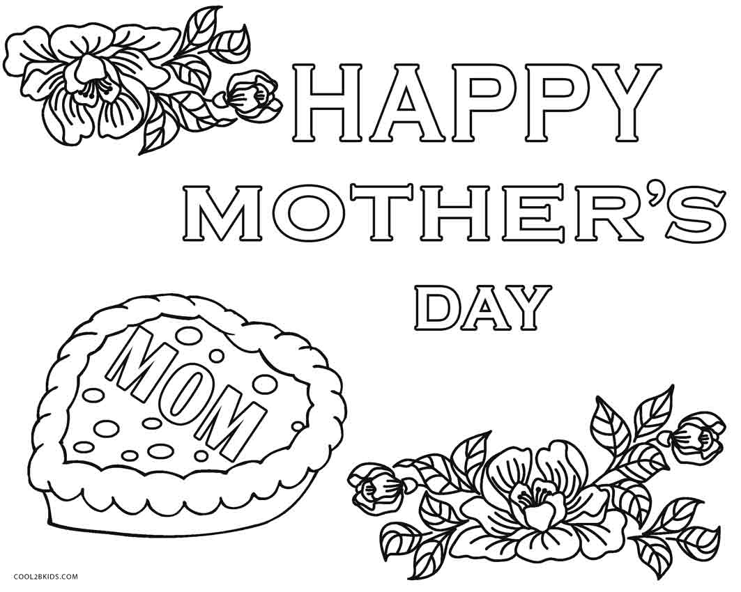 mothers day coloring pages free - Free Mothers Day Coloring Pages