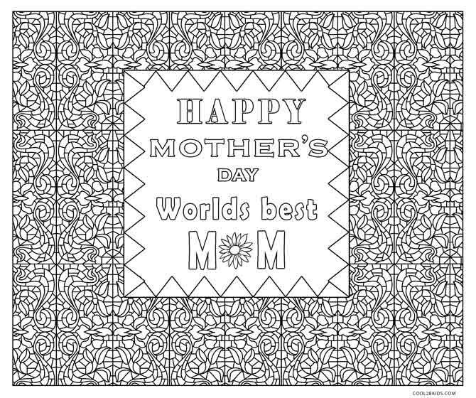 - Free Printable Mothers Day Coloring Pages For Kids